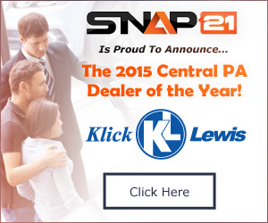snap21 presents klick lewis as 2015 central pa's dealer of the year