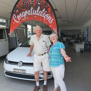 Mr & mrs Lewin at Northern Rivers Volkswagen