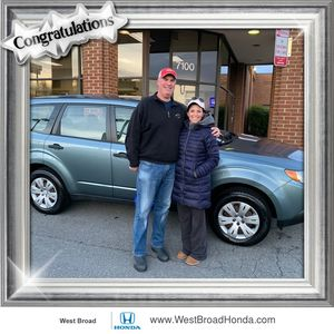 John & Hilary D. at West Broad Honda