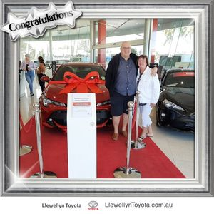 Margaret  and Michael  at Llewellyn Toyota