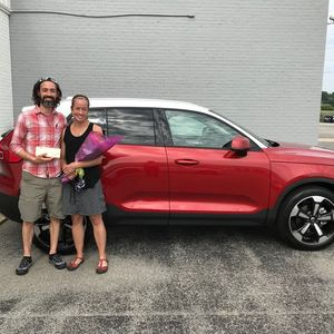 Bill and Jenn at Lehman Volvo Cars of York